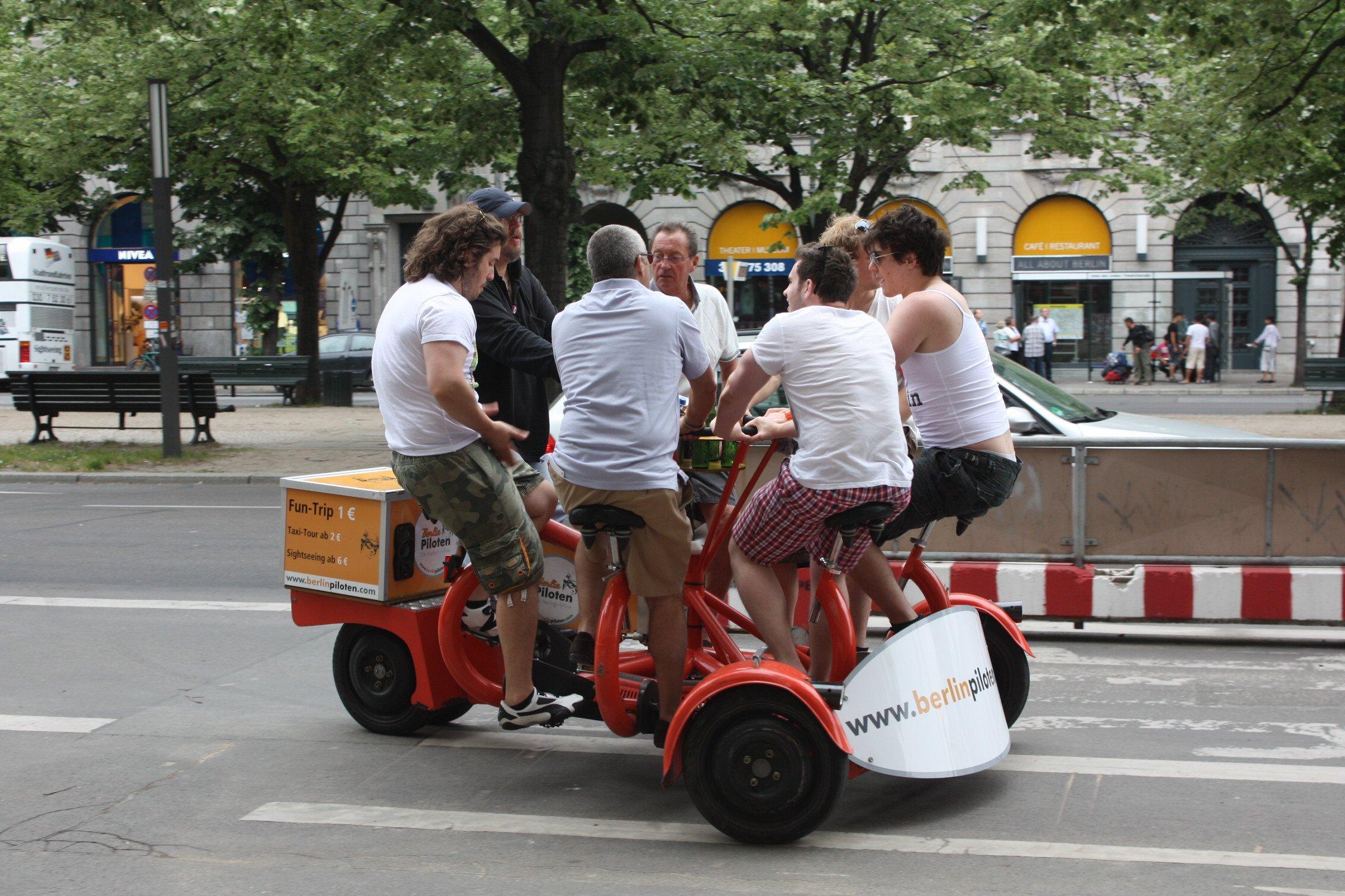 People on a bike