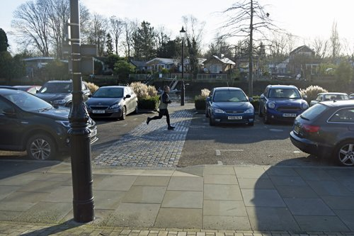 Twickenham riverside with cars